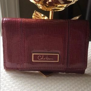 Cole Haan red leather cardholder